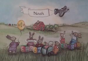 barntavla doptavla kaniner_leker_ute_s