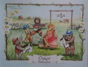barntavla doptavla nallar_leker_cowboys_s